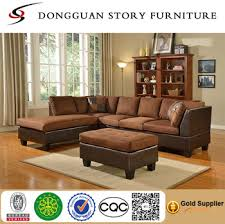 chocolate sectional sofa modern contemporary polyfiber fabric sectional sofa and ottoman set