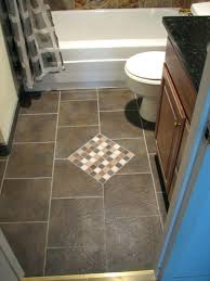Idea For Bathroom Floor Tile Designs For Bathrooms 9 Grey Feature Floor Tiles