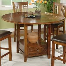 round table with lazy susan built in dining room tables bar height winners only dzh54260 zahara counter