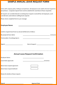 Exle Letter Request Annual Leave leave request form template londa britishcollege co