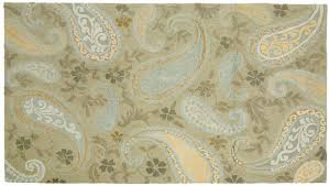 Paisley Area Rugs Woven Silk Area Rug With Borders Blue And White 8x91 Seafoam