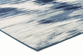 Modern Patterned Rugs by Abelino 3271 Blue Watercolour Abstract Patterned Modern Designer