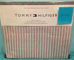 Sheet Sets Twin Xl Tommy Hilfiger Twin Xl Sheet Set Red Wht Blue Striped Cotton