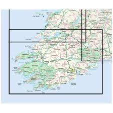 Map Ireland Ordnance Survey Of Ireland Os Holiday Map Ireland South Above
