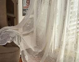 Cream Lace Net Curtains Lace Curtains Etsy