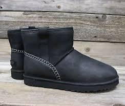 s ugg australia mini leather boots ugg australia authentic mens mini stitch black leather
