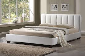 Stylish Bed Frames Pulsar White Faux Leather Bed Frame Stylish Beds Bed Frames And