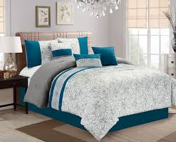 quatrefoil comforter set interesting teal and white turquoise
