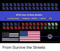 Law Enforcement Memes - 2016 line of duty deaths law enforcement firefighters 15 emt s 18