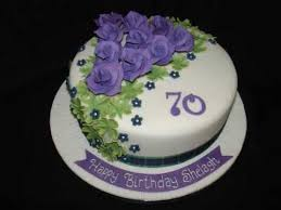 70th birthday with purple roses fondant cake youtube mamas