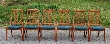 Slat Back Dining Chairs Tribute 20th Decor Vintage Teak Dining Chairs And Table