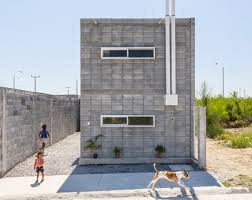 concrete block houses the casa caja box house by s ar is a model for low cost concrete