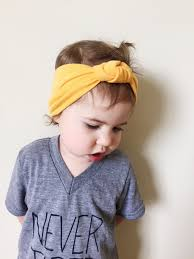 knot headband marigold yellow headband turban top knot headband baby