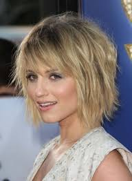 photo short with choppy layers and bangs layered haircuts