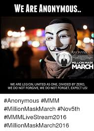 Divide By Zero Meme - we are anonymous anonymous we are anonymous we are legion united as