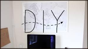 World Map Push Pin Board by Diy Push Pin World Map Youtube