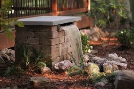 Fountains For Backyard by Build A Stone Waterfall Fountain Hgtv