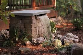 Building A Backyard Garden by Build A Stone Waterfall Fountain Hgtv