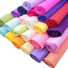aliexpress buy 250 50cm colored crepe paper roll for diy