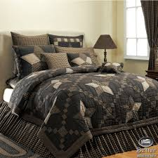 black brown primitive rustic star western country home cotton