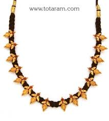 black gold necklace jewelry images 22k gold 39 lakshmi kasu 39 necklace with black thread temple jpg