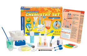 amazon com thames and kosmos kids first chemistry set science kit