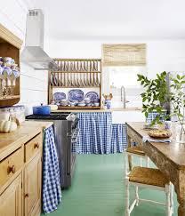 blue kitchen cabinets in cabin 31 kitchen color ideas best kitchen paint color schemes