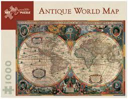 Opal Creek Oregon Map Pomegranate 1000 Piece Jigsaw Puzzle Antique World Map Puzzlesnz