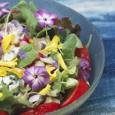 figaro madame cuisine salade de fleurs recipe
