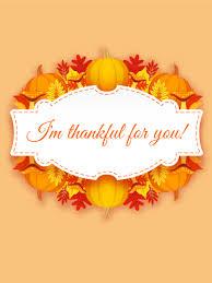 i m always thankful happy thanksgiving card birthday