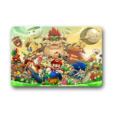 scottshop fashion custom sonic the hedgehog super mario doormat 30