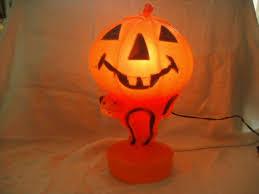 Vintage Halloween Decorations Vintage Halloween Plastic Blow Mold Pumpkin Shirtsdefense