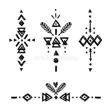 vector tribal elements stock vector illustration of