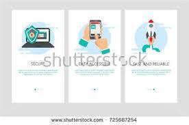 vector illustration onboarding app screens web stock vector