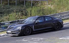 paul walker porsche model porsche mission e flies on nurburgring prototype shows more skin
