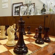 heirloom large praetorian crimson rosewood staunton chess set
