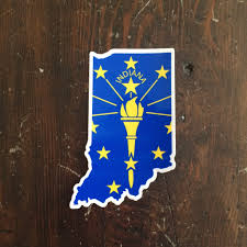 Indiana Flag Images Indiana State Flag Sticker Hoosier Proud