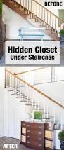 add a closet with a hidden door under a staircase in my