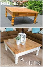 farmhouse style coffee table ugly orange coffee table from craigslist made into a beautiful two