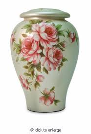 creamation urns bouquet painted ceramic cremation urn