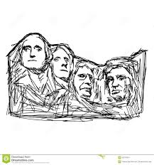 Mt Rushmore Map Illustration Doodle Mount Rushmore Stock Illustration Image