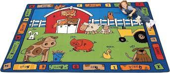 Alphabet Area Rug Alphabet Farm Classroom Area Rug 8 U00274 X 11 U00278 5212