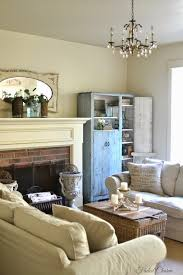 faded charm living room blues