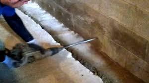 d u0026d basement waterproofing drilling weep holes youtube