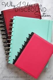 why i use the discbound system notebooks and planners sparkles