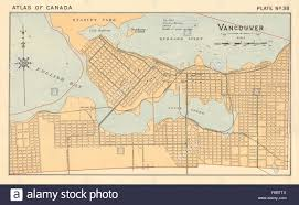 Map Of British Columbia Canada by Vancouver Town City Plan British Columbia Canada White 1906