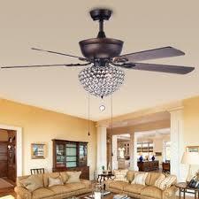living room ceiling fan ceiling fan with crystal light wayfair