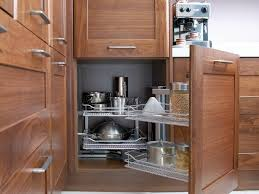 Horizontal Kitchen Cabinets Kitchen 41 Solid Brown Wooden Door Cabinets Blind Corner