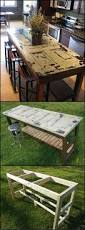 how to build a kitchen island from an old door http