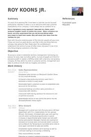 Steward Resume Sample by Sales Representative Resume Samples Visualcv Resume Samples Database